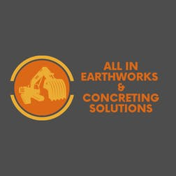 Logo of ALL IN EARTHWORKS AND CONCRETING SOLUTIONS