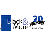 Black & More logo