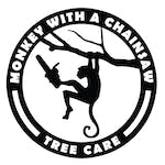 Logo of Monkey With a Chainsaw - Tree Care