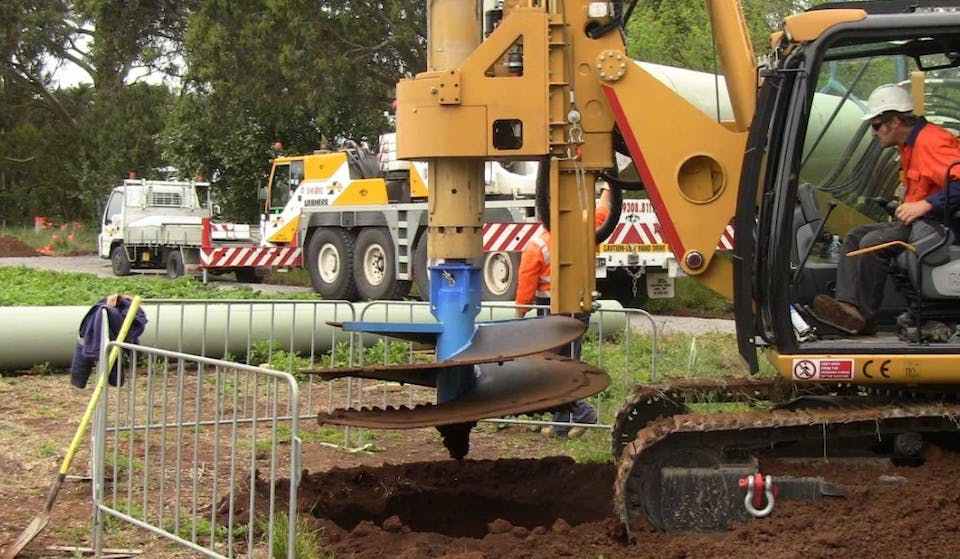 A Access Piling & Rock Drilling